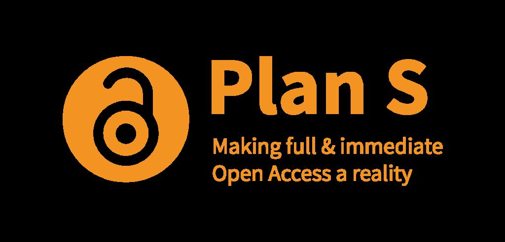 Logo Plan S. Making full & immediate Open Access a reality